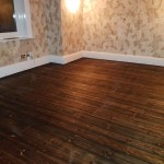 Pine Floorboards Sanded, Stained and Oiled